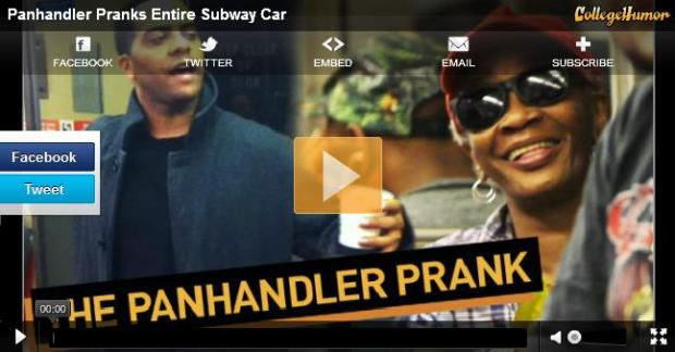 The Panhandler Prank
