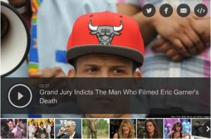 Eric Garner's camera man indicted