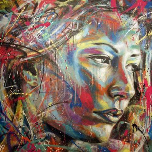 Graffiti painting by street artist David Walker