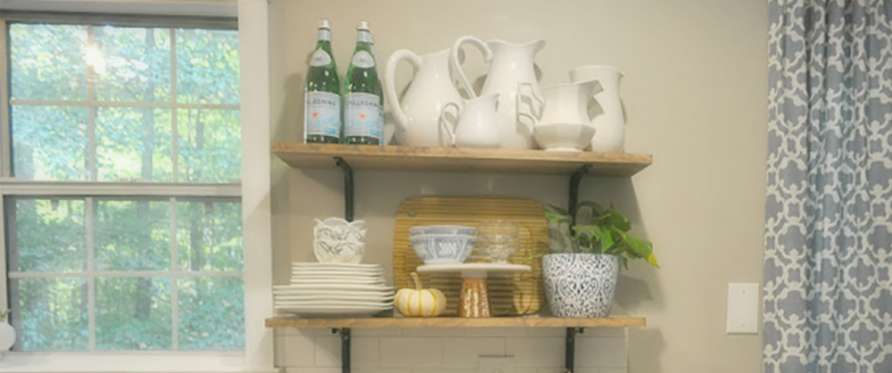Tutorial Quick And Easy DIY Wood Kitchen Shelves Make A